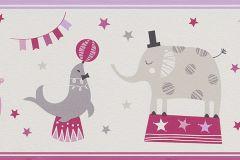 245400 cikkszámú tapéta.állatok,gyerek,rajzolt,lila,pink-rózsaszín,szürke,papír bordűr