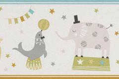245417 cikkszámú tapéta.állatok,gyerek,rajzolt,fehér,kék,szürke,zöld,papír  tapéta