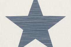 245523 cikkszámú tapéta.Geometriai mintás,gyerek,rajzolt,kék,vajszínű,gyengén mosható,papír tapéta