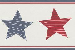 245721 cikkszámú tapéta.Geometriai mintás,gyerek,rajzolt,kék,piros-bordó,vajszínű,papír bordűr