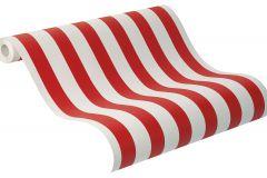 246032 cikkszámú tapéta.Csíkos,fehér,piros-bordó,vajszínű,gyengén mosható,illesztés mentes,papír tapéta