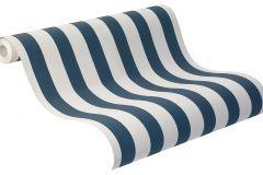 246049 cikkszámú tapéta.Csíkos,fehér,kék,gyengén mosható,illesztés mentes,papír tapéta