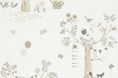 247206 cikkszámú tapéta.állatok,gyerek,rajzolt,bézs-drapp,fehér,szürke,gyengén mosható,papír tapéta