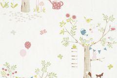 247213 cikkszámú tapéta.állatok,gyerek,rajzolt,barna,bézs-drapp,fehér,kék,pink-rózsaszín,zöld,gyengén mosható,papír tapéta