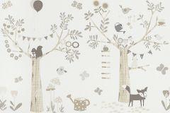 247305 cikkszámú tapéta.állatok,gyerek,rajzolt,bézs-drapp,fehér,szürke,papír bordűr