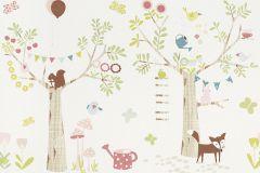 247312 cikkszámú tapéta.állatok,gyerek,rajzolt,barna,bézs-drapp,fehér,kék,pink-rózsaszín,zöld,papír bordűr