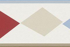 247923 cikkszámú tapéta.Geometriai mintás,gyerek,barna,bézs-drapp,kék,piros-bordó,szürke,papír bordűr