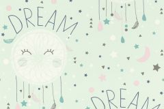 248760 cikkszámú tapéta.Feliratos-számos,gyerek,különleges felületű,rajzolt,fehér,kék,pink-rózsaszín,zöld,gyengén mosható,papír tapéta