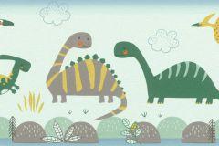 248852 cikkszámú tapéta.állatok,gyerek,különleges felületű,kék,piros-bordó,zöld,papír tapéta