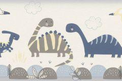 248869 cikkszámú tapéta.állatok,gyerek,különleges felületű,bézs-drapp,kék,sárga,szürke,papír tapéta
