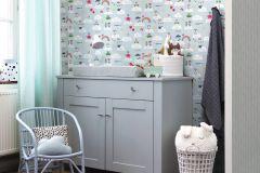 249132 cikkszámú tapéta.Gyerek,különleges felületű,fehér,kék,gyengén mosható,papír tapéta