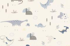 249347 cikkszámú tapéta.állatok,gyerek,különleges felületű,rajzolt,fehér,kék,lila,szürke,gyengén mosható,papír tapéta