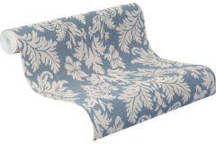 474350 cikkszámú tapéta.Barokk-klasszikus,textil hatású,fehér,kék,szürke,lemosható,vlies tapéta