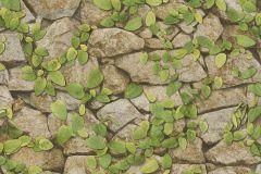 476408 cikkszámú tapéta.Kőhatású-kőmintás,természeti mintás,virágmintás,bézs-drapp,sárga,zöld,lemosható,vlies tapéta