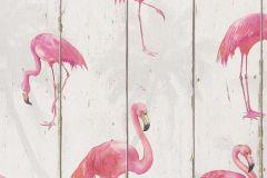 479720 cikkszámú tapéta.állatok,fa hatású-fa mintás,fehér,fekete,pink-rózsaszín,szürke,lemosható,vlies tapéta
