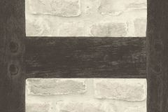 860504 cikkszámú tapéta.Fa hatású-fa mintás,kőhatású-kőmintás,barna,bézs-drapp,fekete,szürke,lemosható,vlies tapéta