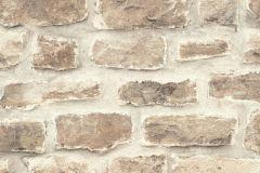 860610 cikkszámú tapéta.3d hatású,kőhatású-kőmintás,különleges felületű,különleges motívumos,retro,barna,bézs-drapp,szürke,vajszínű,lemosható,vlies tapéta