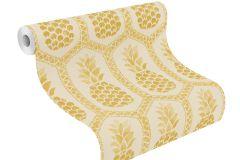 862102 cikkszámú tapéta.Absztrakt,különleges felületű,különleges motívumos,rajzolt,fehér,sárga,lemosható,vlies tapéta