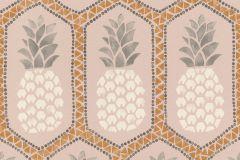 862119 cikkszámú tapéta.Absztrakt,különleges felületű,különleges motívumos,rajzolt,természeti mintás,gyöngyház,narancs-terrakotta,pink-rózsaszín,szürke,lemosható,vlies tapéta