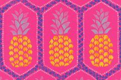 862126 cikkszámú tapéta.Absztrakt,különleges felületű,különleges motívumos,rajzolt,retro,természeti mintás,kék,lila,narancs-terrakotta,pink-rózsaszín,sárga,lemosható,vlies tapéta
