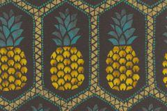 862140 cikkszámú tapéta.Absztrakt,különleges felületű,különleges motívumos,rajzolt,természeti mintás,kék,narancs-terrakotta,sárga,szürke,zöld,lemosható,vlies tapéta