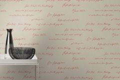 522181 cikkszámú tapéta.Feliratos-számos,különleges felületű,textilmintás,bézs-drapp,piros-bordó,lemosható,vlies tapéta