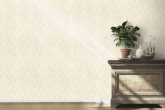 522716 cikkszámú tapéta.Barokk-klasszikus,különleges felületű,textilmintás,bézs-drapp,fehér,lemosható,vlies tapéta