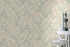 527551 cikkszámú tapéta.Különleges felületű,metál-fényes,természeti mintás,textilmintás,kék,türkiz,lemosható,vlies tapéta