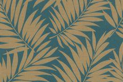 527599 cikkszámú tapéta.Különleges felületű,metál-fényes,természeti mintás,textilmintás,arany,türkiz,lemosható,vlies tapéta