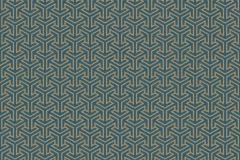 531930 cikkszámú tapéta.Absztrakt,különleges felületű,textilmintás,arany,türkiz,lemosható,vlies tapéta
