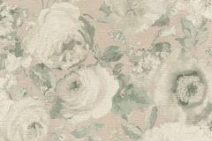 527834 cikkszámú tapéta.Különleges felületű,különleges motívumos,természeti mintás,textil hatású,virágmintás,bézs-drapp,zöld,lemosható,vlies tapéta