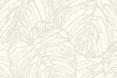 609325 cikkszámú tapéta.Absztrakt,metál-fényes,természeti mintás,fehér,vajszín,lemosható,vlies tapéta