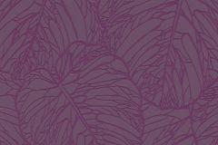 609363 cikkszámú tapéta.Absztrakt,egyszínű,metál-fényes,természeti mintás,lila,lemosható,vlies tapéta