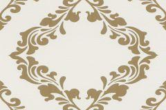 609547 cikkszámú tapéta.Barokk-klasszikus,metál-fényes,arany,fehér,lemosható,vlies tapéta