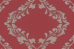609554 cikkszámú tapéta.Barokk-klasszikus,metál-fényes,piros-bordó,szürke,lemosható,vlies tapéta
