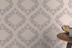 609561 cikkszámú tapéta.Barokk-klasszikus,metál-fényes,bézs-drapp,ezüst,szürke,lemosható,vlies tapéta