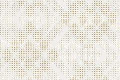 609622 cikkszámú tapéta.Geometriai mintás,pöttyös,arany,fehér,lemosható,vlies tapéta