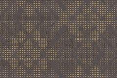 609639 cikkszámú tapéta.Geometriai mintás,pöttyös,arany,barna,lemosható,vlies tapéta