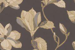 610215 cikkszámú tapéta.Virágmintás,arany,barna,sárga,szürke,lemosható,vlies tapéta