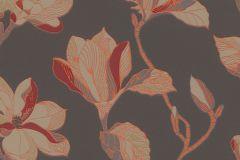 610222 cikkszámú tapéta.Virágmintás,barna,bézs-drapp,narancs-terrakotta,piros-bordó,lemosható,vlies tapéta