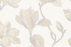 610239 cikkszámú tapéta.Virágmintás,barna,bézs-drapp,fehér,szürke,lemosható,vlies tapéta