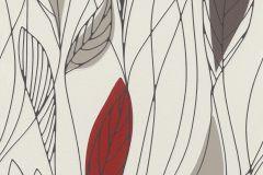 932928 cikkszámú tapéta.Rajzolt,természeti mintás,barna,bézs-drapp,piros-bordó,lemosható,vlies tapéta