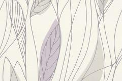 932959 cikkszámú tapéta.Rajzolt,természeti mintás,lila,szürke,lemosható,vlies tapéta