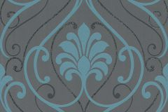 933819 cikkszámú tapéta.Barokk-klasszikus,barna,türkiz,lemosható,vlies tapéta