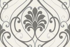 933826 cikkszámú tapéta.Barokk-klasszikus,fehér,szürke,lemosható,vlies tapéta