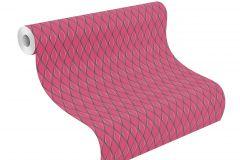 800708 cikkszámú tapéta.3d hatású,absztrakt,pink-rózsaszín,szürke,lemosható,vlies tapéta