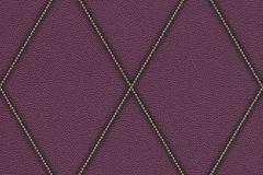 576580 cikkszámú tapéta.Bőr hatású,geometriai mintás,különleges motívumos,textilmintás,lila,lemosható,vlies tapéta