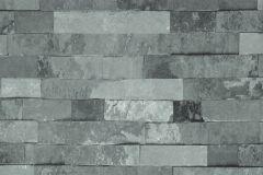 04-CHARCOAL cikkszámú tapéta.Kőhatású-kőmintás,szürke,lemosható,papír tapéta