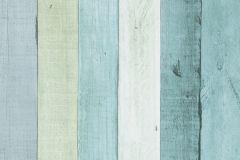 17-TURQUOISE cikkszámú tapéta.Fa hatású-fa mintás,fehér,kék,zöld,lemosható,papír tapéta