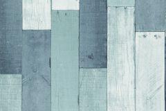 35-AQUA cikkszámú tapéta.Fa hatású-fa mintás,fehér,kék,türkiz,zöld,lemosható,papír tapéta